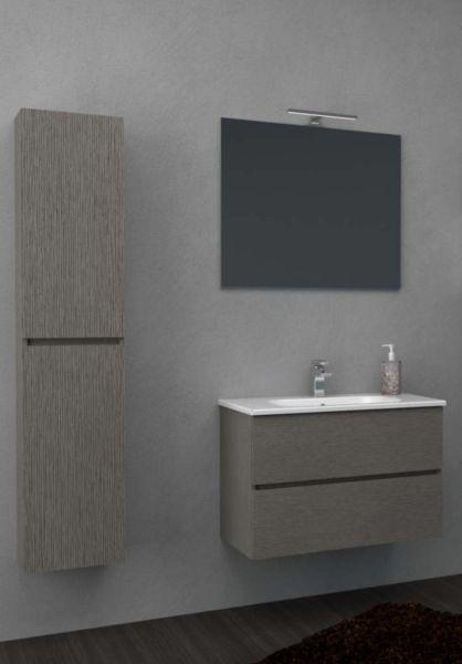 Mobile Bagno Completo Lavabo Specchio Led Harmony 80CM CERAMICHEMIRANDA